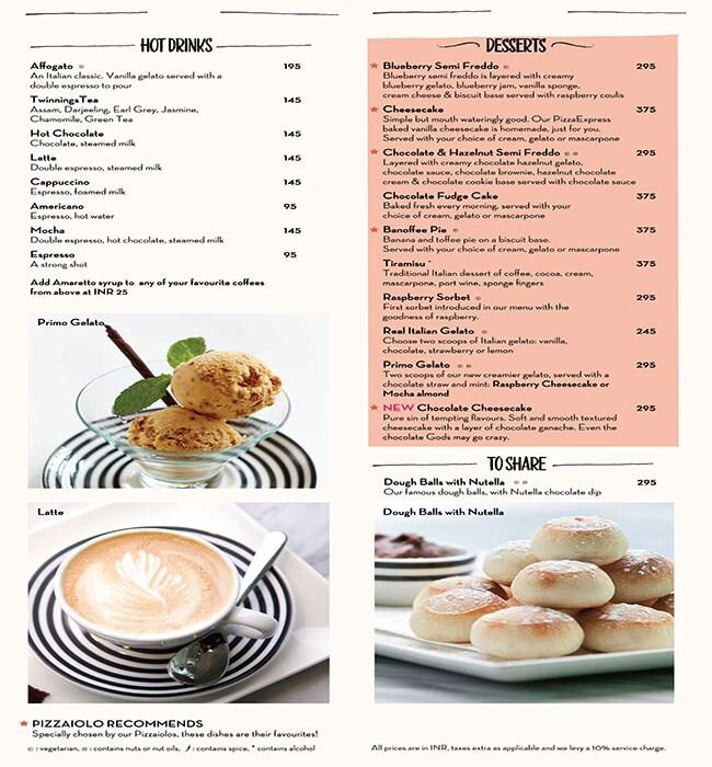 PizzaExpress menu 7