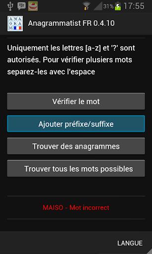 Anagrammatist FR  screenshots 2