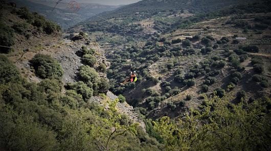 La tirolina más grande de Andalucía.