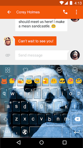 Cute Panda -Love Gifs Keyboard