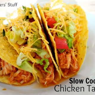 3 Ingredient Slow Cooker Chicken Tacos.