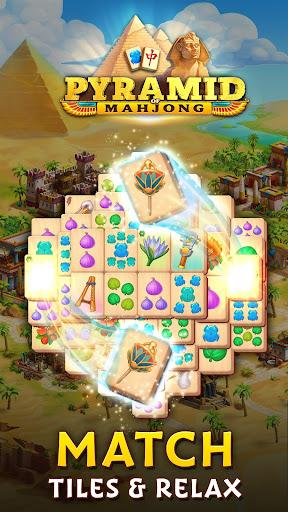 Pyramid of Mahjong: A tile matching city puzzle screenshots 1