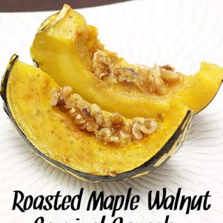 Roasted Maple Walnut Carnival Squash
