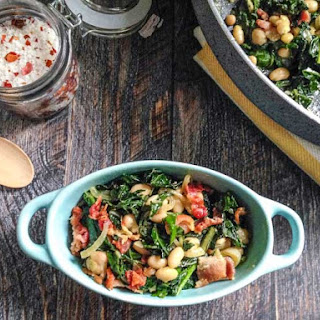 Easy Bacon Beans & Greens