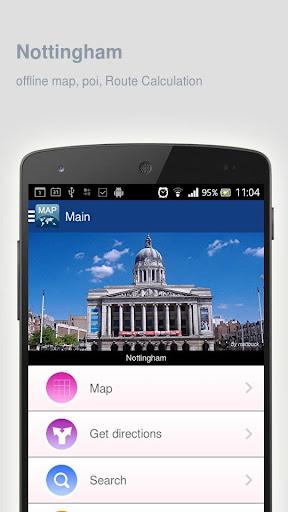 Nottingham Map offline