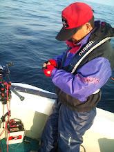 Photo: 「・・・はいはい。 私ですよ!」 最近、釣果がパッとしない戸田さん。