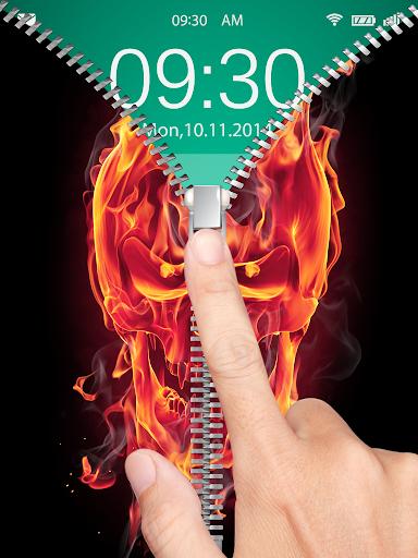 Burning Skull Lock Screen
