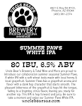 Uncle Bear's Summer Paws White IPA