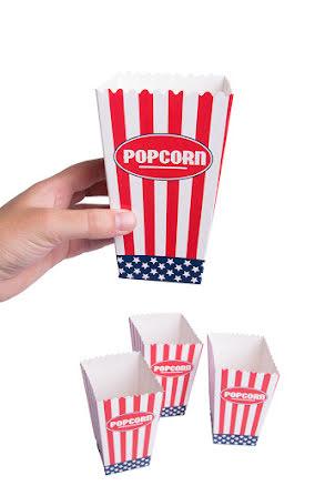 USA, Popcornbägare 4 st