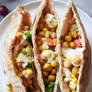 Roasted Chickpea Cauliflower Pitas.