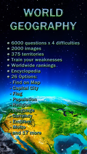 World Geography - Quiz Game game (apk) free download for Android/PC/Windows screenshot