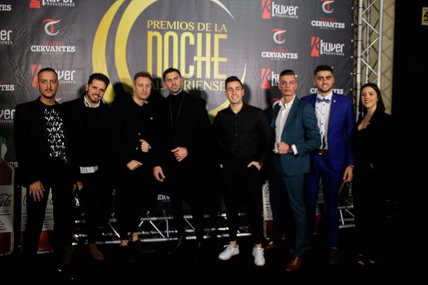 Invitados a los Premios de la Noche Almeriense en el photocall.