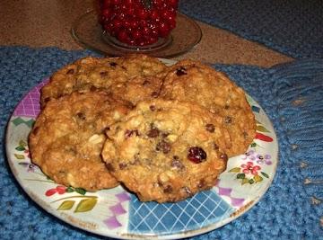 Carol's Choc-oat-cran-chip Cookies Recipe
