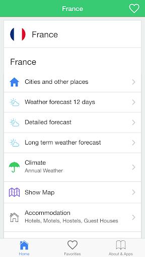 フランスの天気予報 旅行者のためのガイド。