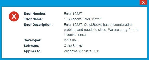 QuickBooks Error 15227