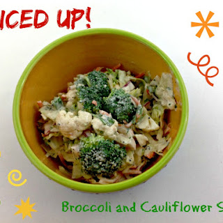Mexican Spiced Broccoli and Cauliflower Salad.
