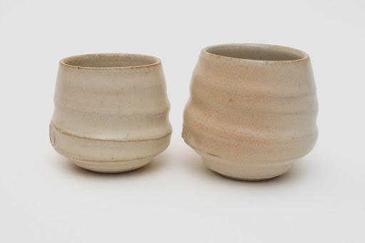 Gilles Le Corre Pair Ceramic Guinomi / Small Beakers