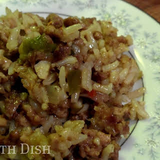 Cajun Rice Dressing - Dirty Rice Jambalaya.