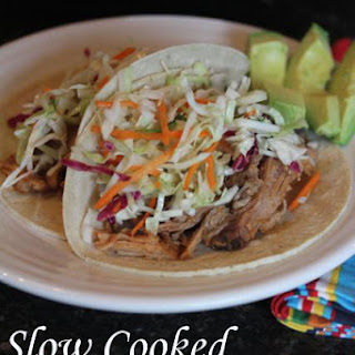 Slow Cooked Pulled Pork with Mexican Coleslaw.