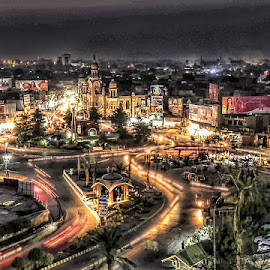 by Abdul Rehman - City,  Street & Park  Night