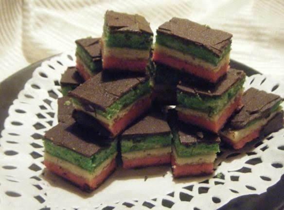 Rainbow Cookies....used Strawberry Jam Instead....great Taste