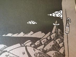 Photo: Série limitée 40ex numérotés, signés par HubbubHum. A3 gris, 300g, sérigraphié blanc et noir. détail cocktail Molotov