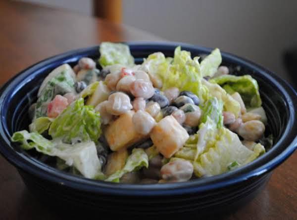 Three Bean And Cheese Salad