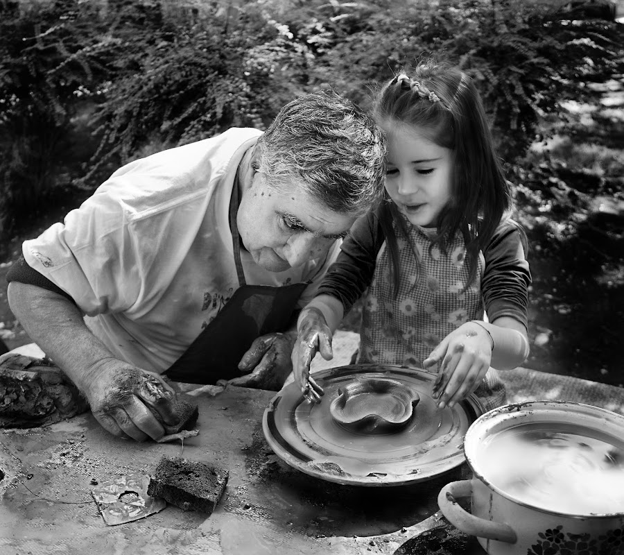 pottery making by Borislava Atanasova - People Street & Candids