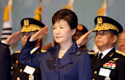 South Korean President Park Geun-Hye (C) salutes during the 67th Armed Forces Day at  Gyeryongdae. Picture Credit: Kim Hee-Chul  REUTERS