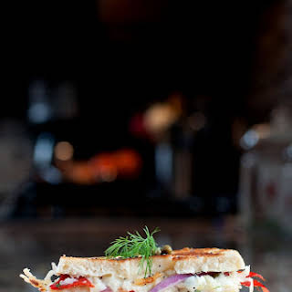 Smoked Salmon Bagel Grilled Cheese.