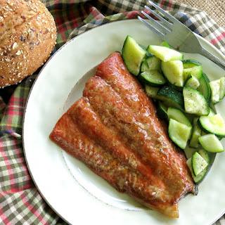 Bourbon Marinated Salmon.