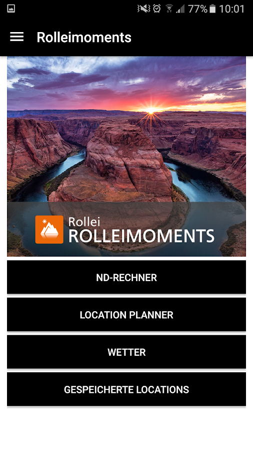 ROLLEIMOMENTS Fotografie-App – Screenshot