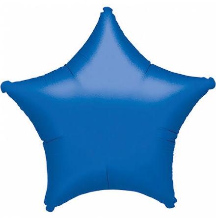 Folieballong, stjärna metallic blå 48 cm