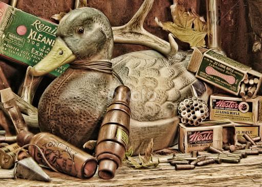 Old Hunting Gear By Hylas Kessler