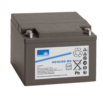Gelbatteri 12V 25Ah Sonnenschein A512/25G5.