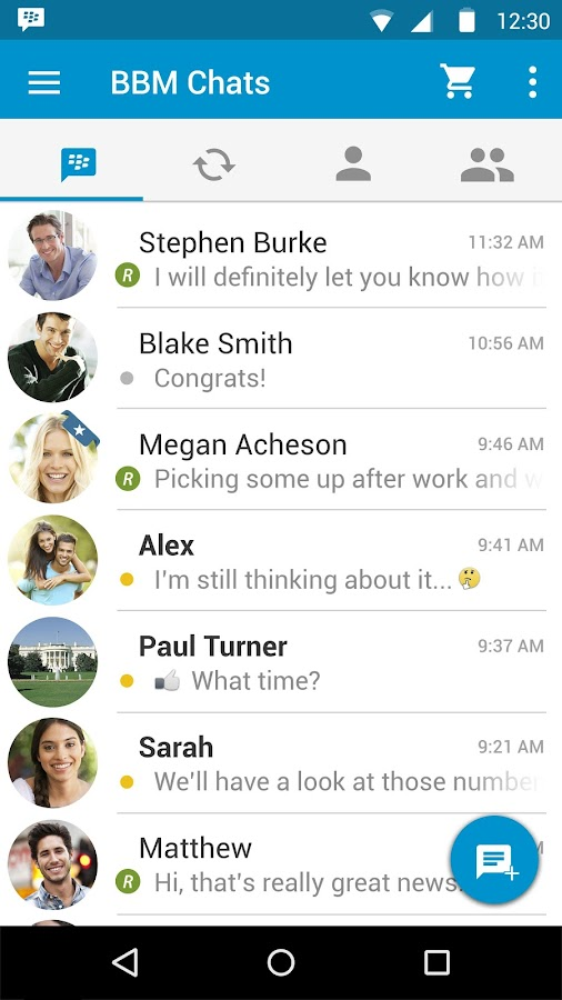 BBM Enterprise- screenshot
