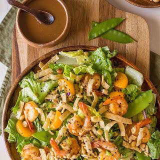 Shrimp Salad with Spicy Peanut Dressing.