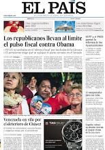 Photo: Los republicanos llevan al límite el pulso fiscal contra Obama, el PP y el PSOE pactan la reforma de los Ayuntamientos y Venezuela en vilo por el deterioro de Chávez, en nuestra portada del miércoles 2 de enero de 2013 http://srv00.epimg.net/pdf/elpais/1aPagina/2013/01/ep-20130102.pdf