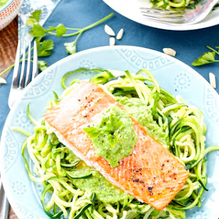 Salmon with Pea Pesto Recipe