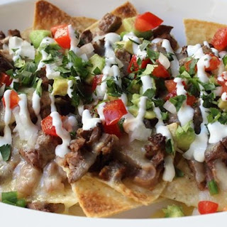 Super Deluxe Steak Nachos.
