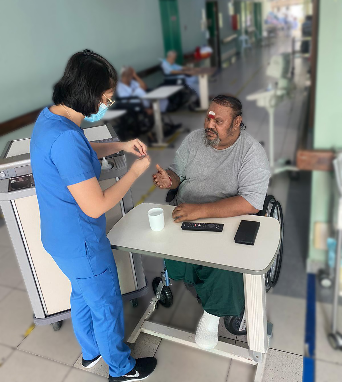Staff training and the use of the Polypharmacy Form have helped improve medication safety among the residents in Sree Narayana Mission Nursing Home.