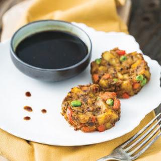 Potato & Pea Samosa Cakes from I Could Never Go Vegan.