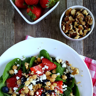 Spinach Salad with Raspberry Walnut Vinaigrette.