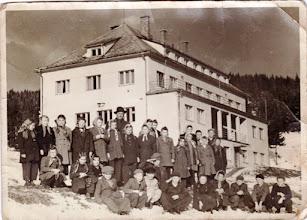 Photo: 1955, 5.o. Sztakovics László tan. , Csicsói Magyar Tannyelvű Alapiskola osztálykirándulás, Magas Tátra, Račkova dolina