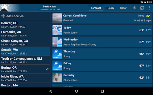 NOAA Weather Unofficial (Pro)- screenshot thumbnail