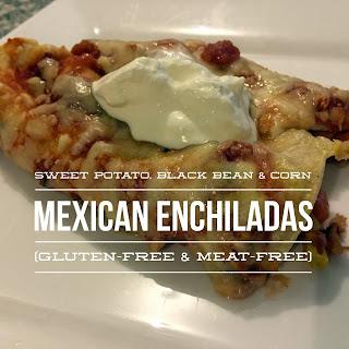 Sweet Potato, Black Bean and Corn Enchiladas