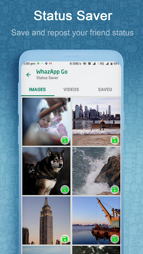 WhazappGo - Direct Chat & Video Status Saver 3.5 screenshots 3