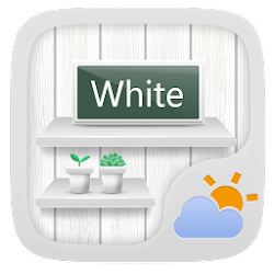 White GO Weather Widget Theme