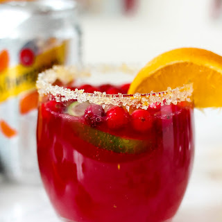 Sparkling Orange Cranberry Margaritas.