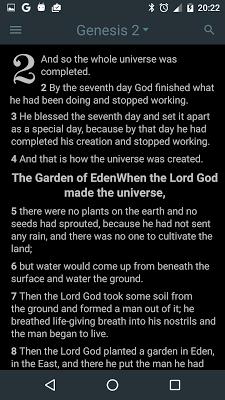 Good News Bible (GNB) - screenshot